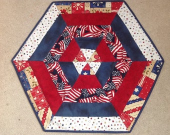 All American Quilted Table Mat