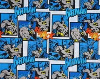 "Batman comic squares - DC Comics for Camelot Fabrics, 43-44"" wide, 100% cotton, by the half yard"