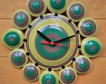 Recycled paper wall clock