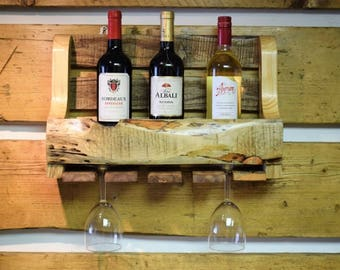Reclaimed Wooden Wine Rack