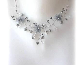 Bridal grey Daisy collection 'Twist' b.