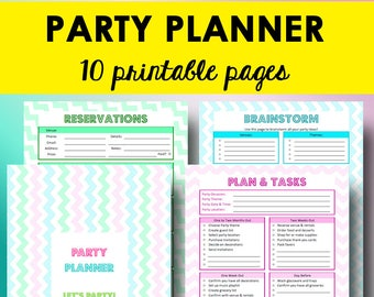 Party Planning Printables, Event Planning Checklist, Party Planner Printable,  Birthday Planner Printables,  Birthday Planner Template