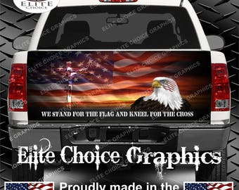 Stand For The Flag Truck Tailgate Wrap Vinyl Graphic Decal Sticker Wrap