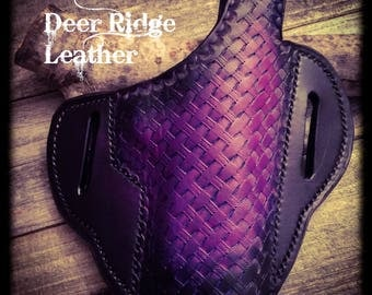 Basket Weave Leather Holster-1911