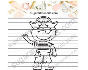 Little pirate PYO cookie Stencil NB900739