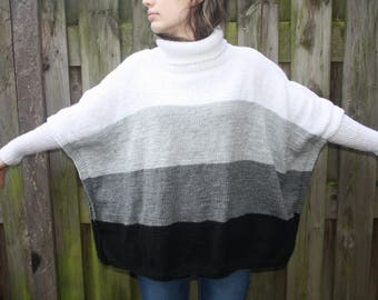 Knitted women's Poncho