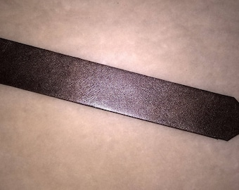 vintage leather bookmark