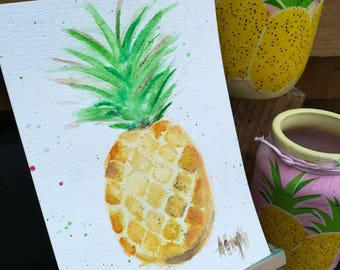 Perky Pineapple A5 Watercolour