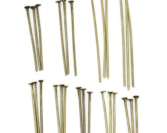 900 stems flat heads Bronze 1.6 to 4cm