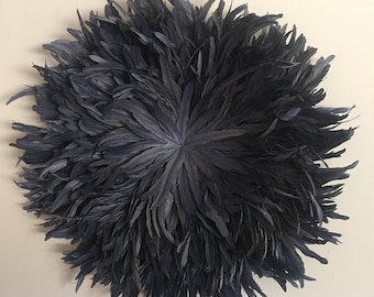 Juju Hat Style Wall Hanging - 40-50cm Diameter Charcoal Grey **PRE-ORDER**
