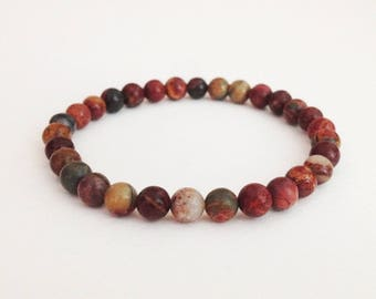 Picasso bracelet 6 mm picasso bead bracelet Simple bracelet Stone bead Woman bracelet