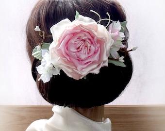 Wedding Hair Accessories,Flower hairpin,flowers for hair,floral accessories, Wedding Fascinator, Bridal Hair Clip, Flower Hair Clip