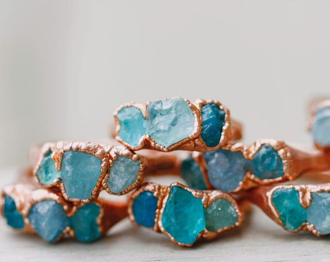 Rose Gold Aquamarine Ring // March's Birthstone