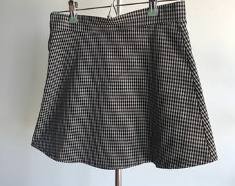 Vintage sz S 26/27 striped checkered skirt