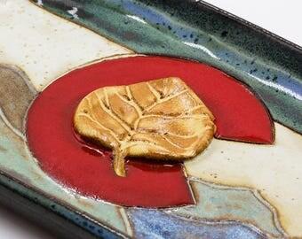 Colorado Ring Dish | Jewelry Holder | Jewelry Dish | Trinket Dish | Ceramic Ring Dish | Handmade Pottery | Colorado Flag | Colorado Gift