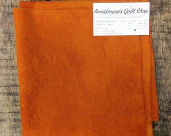 Hand-dyed Wool Fat Quarter -- Pumpkin Orange -- FQ310