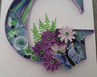 Handmade Quilled Letters