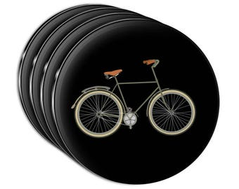 Fixed Gear Bicycle Acrylic Coaster Set Of 4