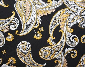 Paisley Print Lycra/Spandex 4 way stretch Matt Finish Fabric