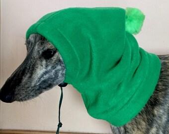 Whippet pom pom hat / dog snood