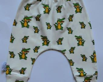 Baby pants, harem pants, crocodile pants,