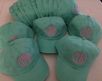Baseball Hats. Personalized Baseball Hat. Bridesmaid Gifts. Sorority hats. Monogram cap