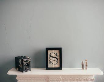 A6 Framed Alphabet Letter Print