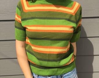 Striped turtle neck shirt