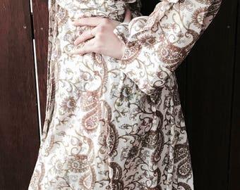 Sale *** Kiyomi Earth Paisley Kimono Dressing Robe