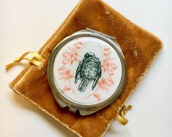 Deceased Crow Compact Mirror