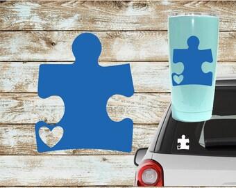 Autism Awareness Decal | Puzzle Piece Decal | Autism Decal | Autism Sticker | Car Decal | Yeti Decal | Monogram Decal | Puzzle Piece Sticker
