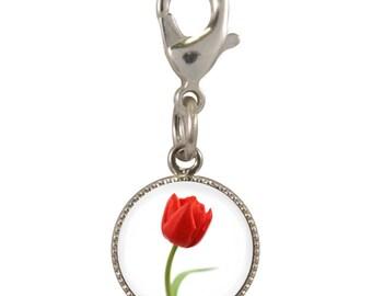 CB Tulip Design Silver Plated Clip Charm