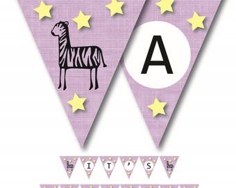 It's a BOY - Zebra Baby Shower Banner Printable