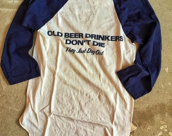 Beer Drinkers Baseball Tee