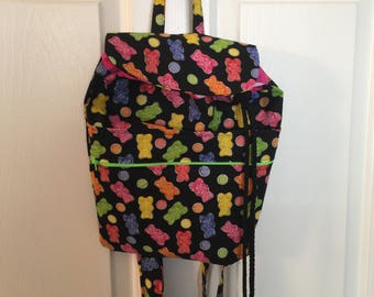 Gummy Bear Drawstring Back Pack