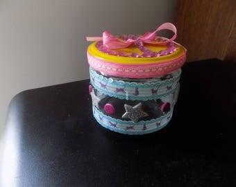 Customize jar glass round