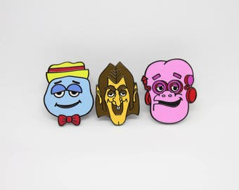 Cereal Monster Booberry Count Chocula Hard Enamel Pins