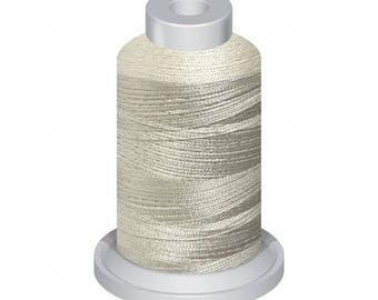 0101 Silver  1100Yd Embroidery Machine Thread Spool 40 Weight (120/2) Premium Polyester Thread For Home and Commercial Embroidery
