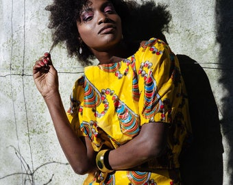 African Fashion Womens African Clothing African Matching Outfit Festival Fashion African Two Piece Festival Clothing African Print Matching