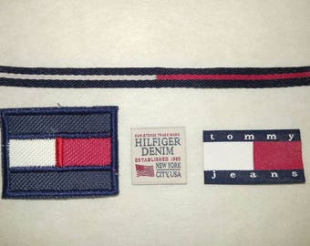 4pcs Tommy Hilfiger TH TH85 Sew on Embroidery and Woven Label hot for DIY Cap T Shirt Bag Jacket Jeans Denim Collection + FREE Ship
