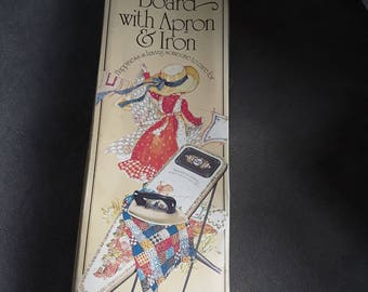 Holly Hobbie ironing board with apron and iron