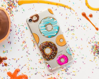 Donuts iPhone Case iPhone 8 Case iPhone 8 Plus Case iPhone 7 Case iPhone 7 Plus Case iPhone 6s Case iPhone 6s Plus Case Love Donuts Art Case