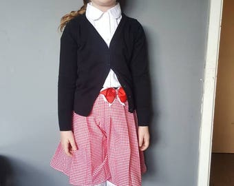 Custom school culottes with bow detail