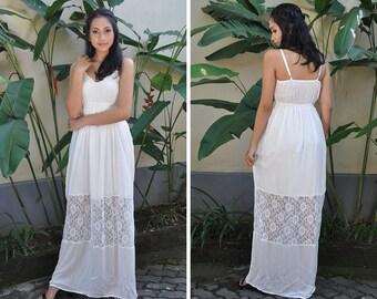 White Long Dress, Maxi Summer Dress, Maternity Dress, Baby Shower Dress, Photoshoot Dress, Gift for Her, Wedding Dress, Engagement Dress