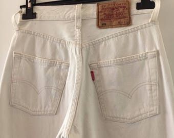 Levis 501 Jeans, High Waisted Size 27/34