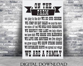 Farm family svg | Etsy