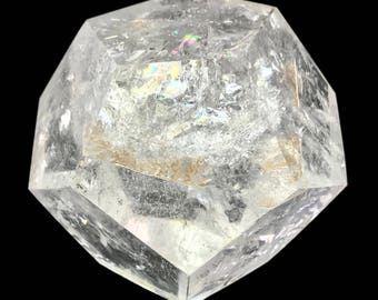Dodecahedron D12 Clear Quartz Crystal Sacred Geometry Platonic Solids D18