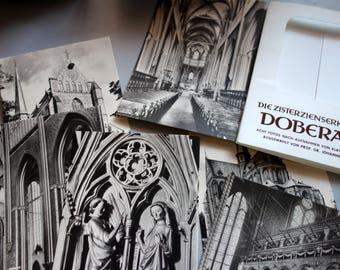 Post Cards-Cistercian church-Bad Doberan-8 photos in binder, vintage-70-er years-photo folder, postcards