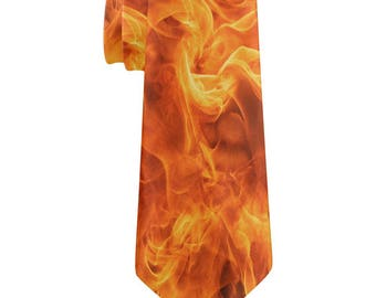 Flames All Over Neck Tie