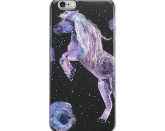 iPhone Case - horse in the galaxy